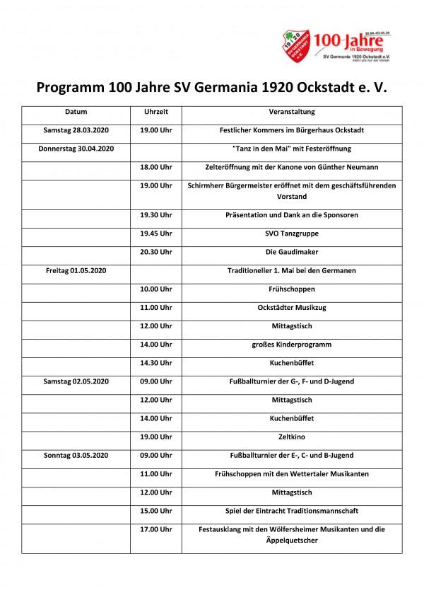 Programm 100 Jahre SV Germania 1920 Ockstadt Stand V2